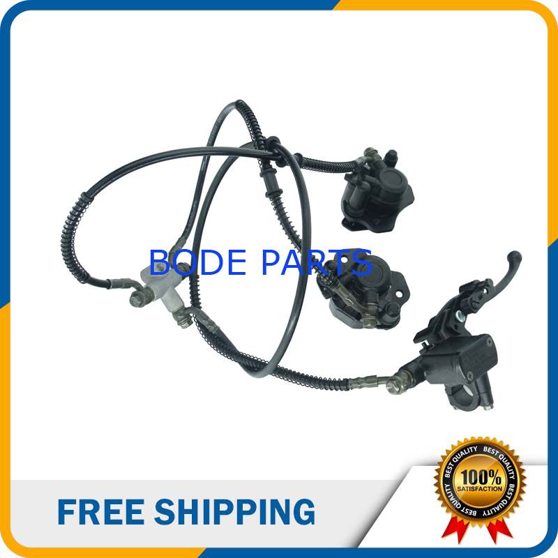 Hydraulic Front &amp; Rear Disc Brake Caliper System&amp;Pads Motorcycle Motocross Motorbike Pit Bike DS-138<br>