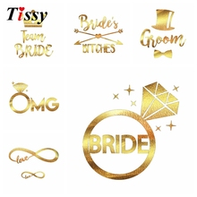 New! 1PC Creative Design Bride Temporary Tattoo Favor Bachelorette Party Bridesmaid Bridal Shower Wedding Party Decoration