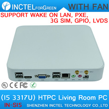 Newest Mini Desktop PC linux small pc with Intel Dual Core Four Threads I5 3317U 1.7Ghz