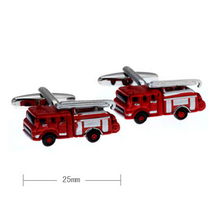 Free Shipping New Arrival Men's Fashion Cufflinks Red Color Novelty Fire Engine Design Cuff Links Wholesale&retail(China)