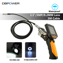"DBPOWER 3.5"" LCD Endoscope Inspection Camera 3M 8.2 mm Lens USB Borescope Camera 4XZoom Snake Camera Industrial Video Endoscope"