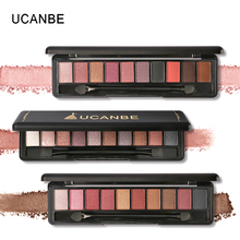 UCANBE 10 Color Shimmer Matte Naked Eyeshadow Palette Metallic Glitter High Pigment Eyeshadow Powder Makeup Natural Eyeshadow