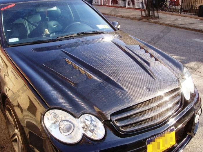 05-06 benz clk wi carbon fiber hood5