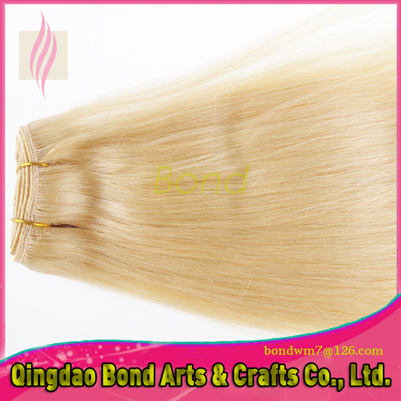 8A Malaysian Indian Virgin Hair Extensions 3- 5 pcs, Straight Blonde Hair 613# , 100% Human Hair Weave<br><br>Aliexpress