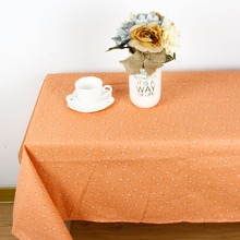 New High Quality pretty Flower print Tablecloth for Dinner Decorative Country Style Cotton Linen Table Cloth