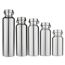 New Stainless Steel Double Wall Vacuum Jug Insulated Water Bottles Travel Coffee Drink Vacuum Flasks 350/500/650/700/1000ml(China)