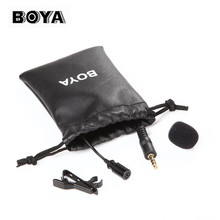BOYA BY-104564 Lapel Lavalier Portable 3.5mm Jack Hands-free Mini Wired Condenser Microphone for Ipad Ipod touch for smart phone