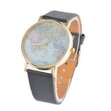 World Maps Women Watches Creative Pattern Colorful Quartz Wristwatches Fashion Clock For Ladies Female Women Men's Gigts