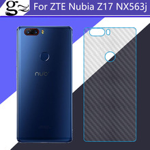 For ZTE Nubia Z17 nx563j back case cover 3D Carbon Fiber Pattern Soft Back Shell Protective Film For ZTE Nubia Z17 Z 17 nx563j