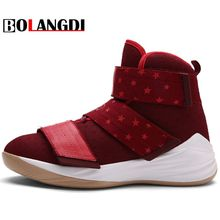 BOLANGDI New Unisex High Top Basketball Shoes Lightweight Mens Trainers Sneakers Women Men Sport Athletic Shoes Jogging Shoes(China)