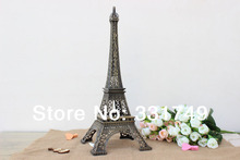 38cm (Height) Restore Bronze Paris Eiffel Tower Statue Metal Figurines Home & Bookshelf Decoration Favors
