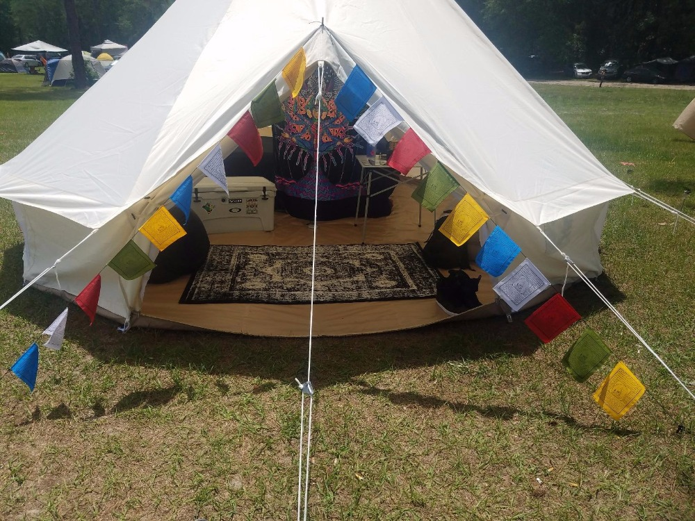 Tent Canvas Waterproof 900D Oxford Bell Tent