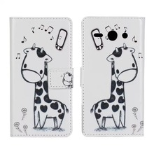 Lovely Design Cute Cartoon Blue Owl Pink Cat Giraffe PU Leather Cover Wallet Case For Huawei Ascend Y530