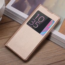 Case Cover for Sony Xperia E5 Mobile Phone Bag View Window PU Leather Protective Phone Cases for Sony Xperia E5 Cover Shell Capa