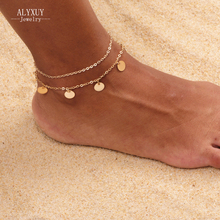 New fashion trendy foot jewelry Bohemia style round bead anklet gift for women girl AN12(China)