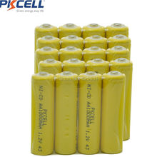 20pcs 1.2v aa 1000mah rechargeable NICD battery in industrial package inButton Top,(China)