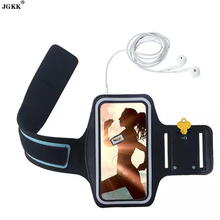 JGKK Women Men Dirt-resistant Hand Bag Running Arm Band Leather Case For iphone 6s Plus Mobile Phone Holder Pouch Belt GYM Cover