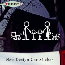 21*8CM Family Picture Car Stickers Cartoon Funny Creative Truck Window Stickers Waterproof Auto Decals Car Styling