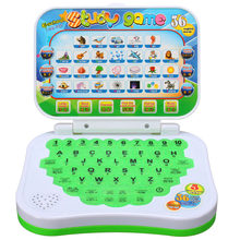 Toy Computer Laptop Tablet Baby Children Educational Learning Machine Toys Electronic Notebook Kids Study Game Pad Music Phone(China)
