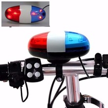 Buy 6 LED Bike Bell Police Taillight Rear Warning Siren Electric Horn Multifunction Cycling Front Light Warning Light Bicycle Bell for $3.38 in AliExpress store
