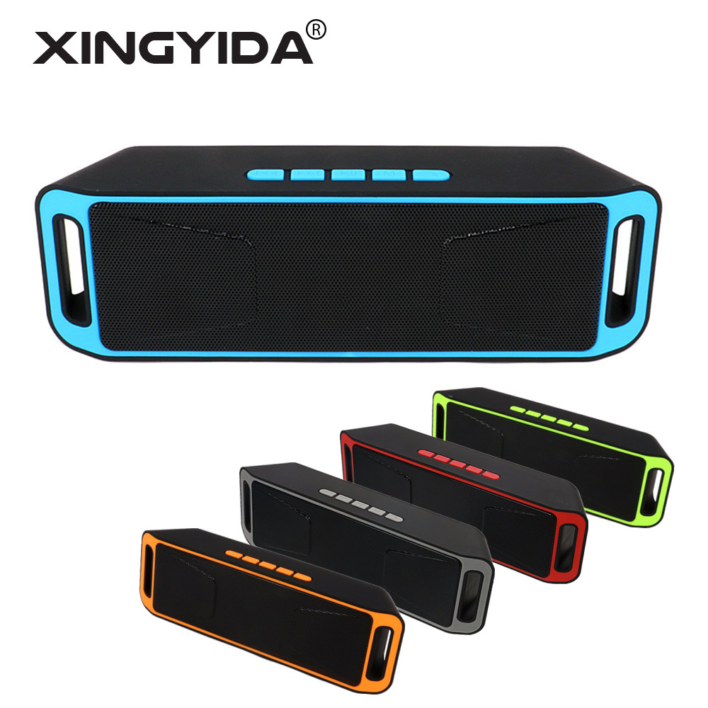 XINGYIDA Portable Bluetooth Speaker Wireless Stereo Altavoz Handfree Column Support MIC FM TF Card For Cell Phones PC(China)