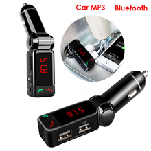 Big Promotion Car mp3 Bluetooth Car Bluetooth FM transmitter car cigarette lighter  USB charging  Samsung iphone  Free Shipping