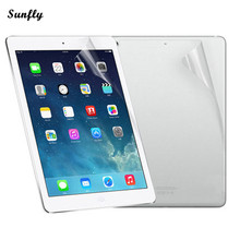 Sunfly 2017 NEW HOT SALE Front And Back Clear Film LCD Screen Protection For Ipad 5 6 Air 1 2 Mar 15(China)
