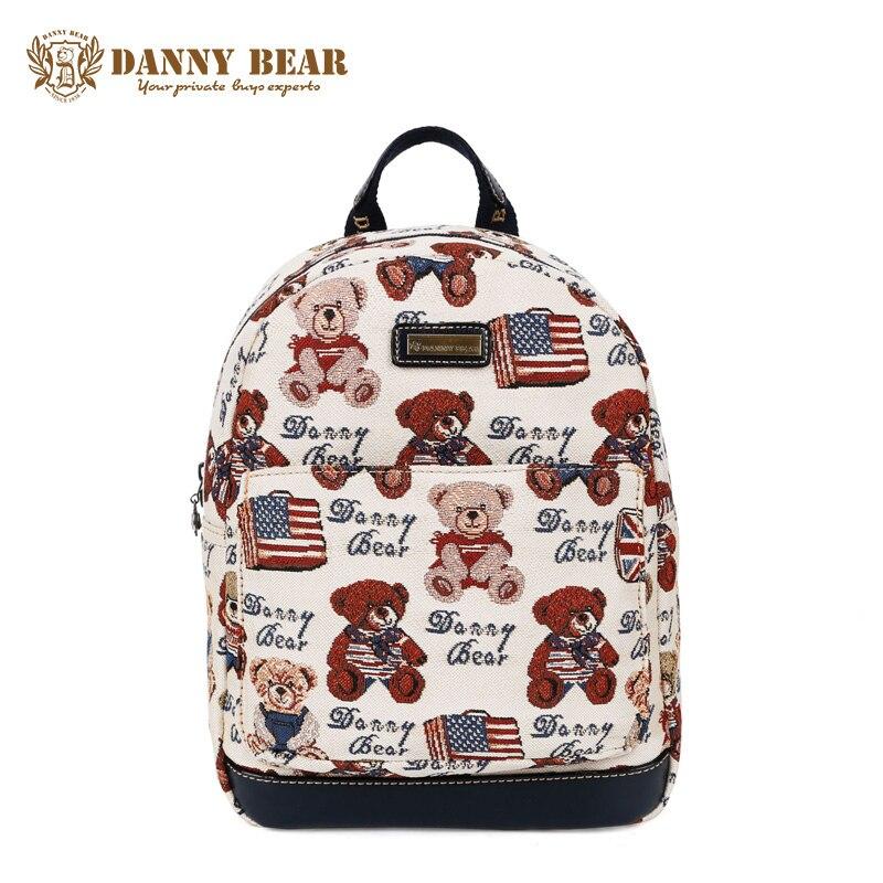 DANNY BEAR Christmas Gift Women Fashion Design Backpack Teenager Girls Large Travel Back Pack Bag Cheap Student School Backpacks<br>