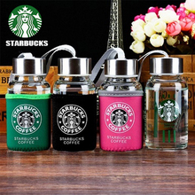 145ml 180ml 280ml 320ml 380ml starbuck famous coffee brand logo water thermos cups glass my bottle  kettle lover mug