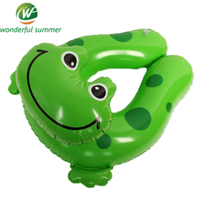 Cute Green Frog  Float Buoy Inflatable Water Swimming Ring Children Armpits Circle Baby Life Buoy Environmental PVC