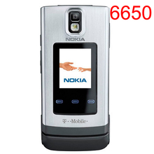 Original Nokia 6650 Mobile Phone 3G GSM Unlocked Flip Phone & one year warranty