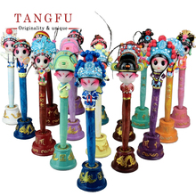 DIY Chinese Kawaii comedy Craft Opera mask Ballpoint Craft cute cartoon gel pen Promotional gift Pen favor stationery home decor(China)