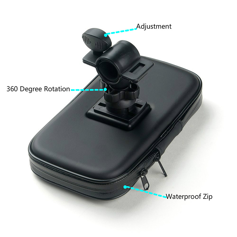 Fimilef Motorcycle Bike Ride Phone Waterproof Bag Case Adjustable Holder Handlebar Mount Dustproof Bag Navigation Phone Stand (20)