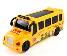 Hot Sale Toy Electric Music School Bus Children Electric Model Car Toy Bus Model Toys For Kids(China)