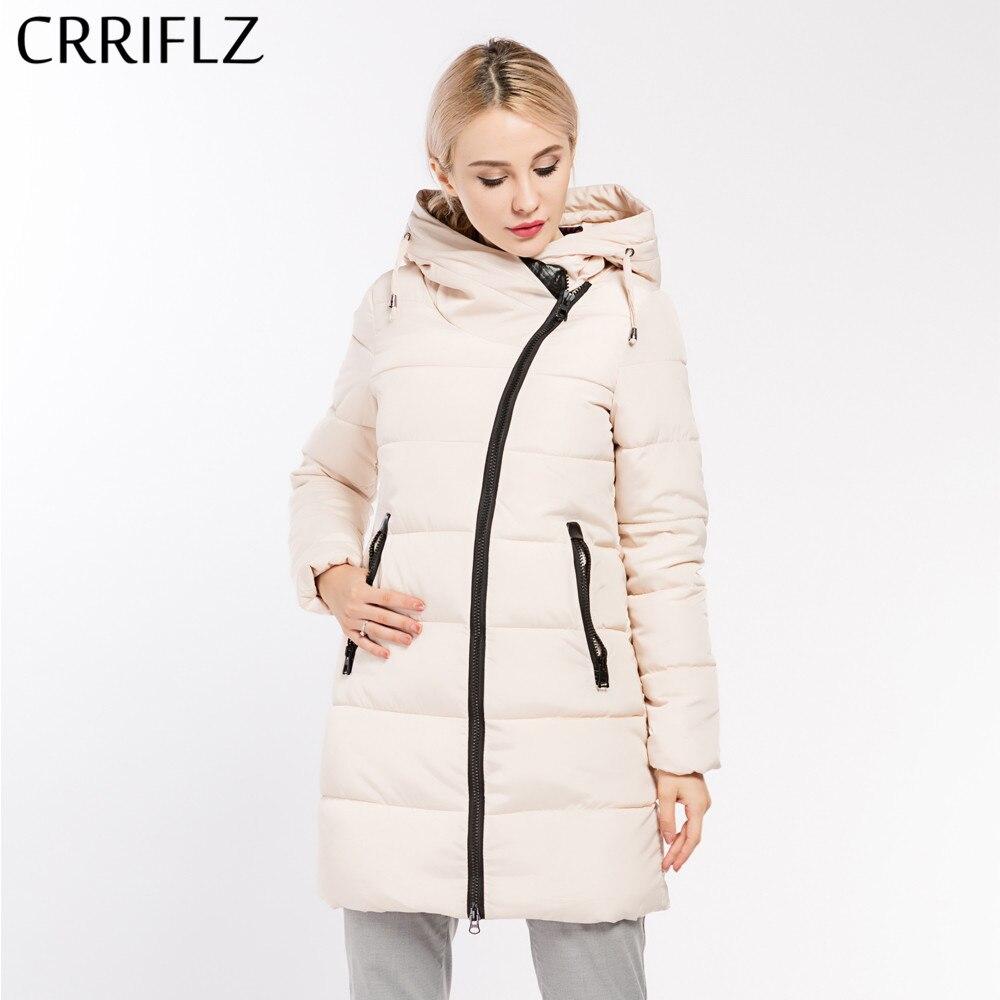 CRRIFLZ 2017 New Winter Collection Womens Down Parka Long Warm Female Jacket Coat Slim Outwear Winter Jacket Women Hooded CoatÎäåæäà è àêñåññóàðû<br><br>