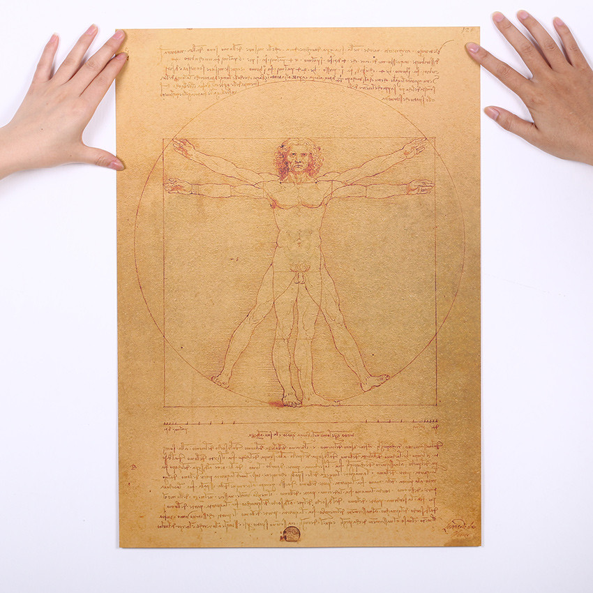 geekoplanet.com - Leonardo Da Vinci Manuscript Vitruvian Man Poster