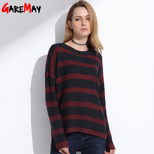 Long Knitted Sweater Pullover Women 2017 Spring Plus Size Jumpers Oversized Striped Sweater Shirt Knitwear Pullover Female Tops
