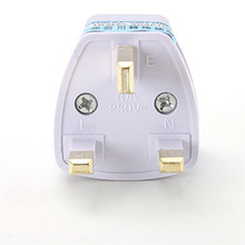 BINMER Futural Digital  New  Universal US EU AU Converter to UK HK AC Travel Power Plug Charger Adapter F25