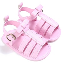 New Baby Girls Boys Fashion Summer Breathable PU Hollow Out Anti-slip Flip Flop Newborn Shoes Sandal 0-18M P1