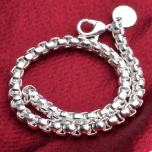 JEXXI Trendy Fashion Simple Chunky Chain Cuff Bangle 925 Stamped Silver Twining Bracelets for Women Men Cool Punk Jewelry Bijoux
