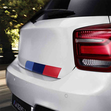 3 Sets Mpower Colors German flag Car Tail Sticker Badge Car-styling For BENZ BMW Volkswagen Audi German car accessories(China)