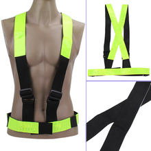 Buy Unisex Elastic Cycling Vest Multi Adjustable Outdoor Safety Reflectivity & Visibility Vest Gear Stripes Cycling Safety Wear for $6.46 in AliExpress store