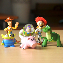 6pcs/lot Toy Story 3 Figures Model Woody Buzz Lightyear Jessie Alien Hamm Rex Action Figures Toys TOY STORY Miniatures Gifts