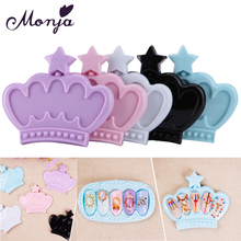 1Pcs 5 Grid Crown Oval Square Nail Art Fingernal Holder Case Gel Polish Flase Tips Storage Container Color Display Showing Shelf