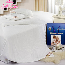 "Blanket Brand ""Silk Place"" Natural High-quality Silk Filled Quilt Russia Fast Delivery White Silk Quilt"