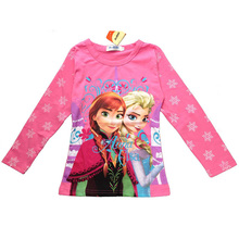 Brand KW Girls Clothing Kids T-shirt Girls Clothes Elsa T Shirt Long Sleeve Tops&Tees Children T Shirts for Girl T Shirt