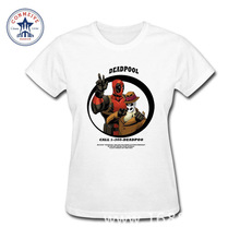 2017 Best Gift For Friend Deadpool Calling Funny Cotton funny t shirt women(China)
