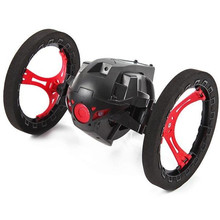 Hot Sale 2017 4CH 2.4GHz Mini Bounce Car Robot Sumo Jumping RC Car Flexible Wheels Remote Control Car Funny Toys For Kids Gift(China)
