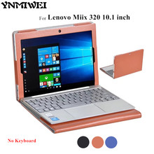 YNMIWEI For Miix 320 Leather Case Full Body Protect Cover For Lenovo Ideapad Miix 320 10.1'' Tablet PC Keyboard Cover Case +film(China)