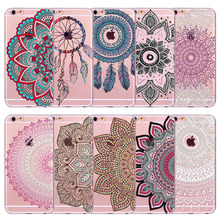 Paisley Retro Phone Case Cover For iPhone 5 5s SE 5c 6 S 6s 7 Plus Dream Catcher Back Skin Cover Soft TPU Coque Phone Bag
